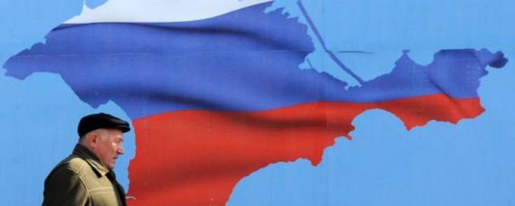 Actualité Ukraine Crimée : drapeau russe