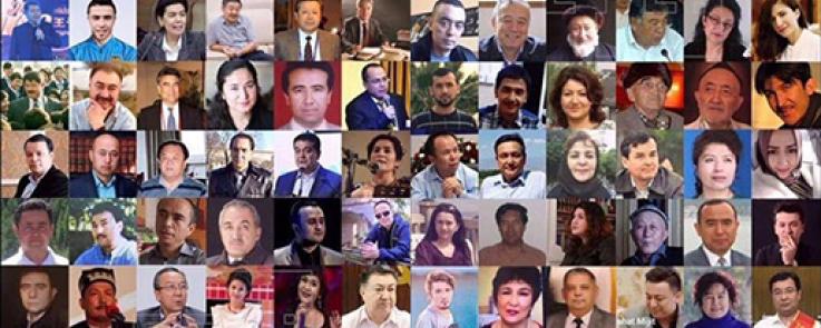 Portraits d'intellectuels et artistes ouïghours disparus dans les camps chinois