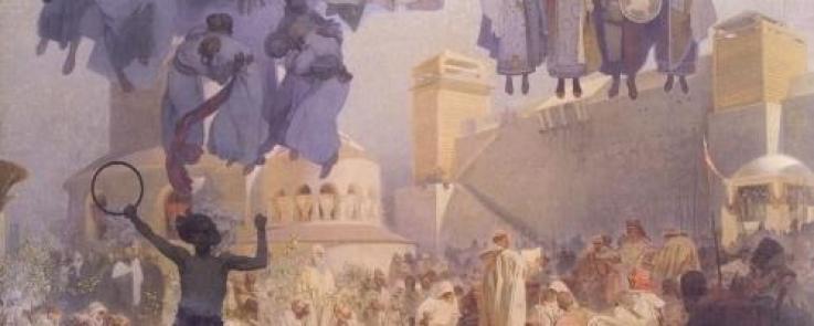 Alphonse Mucha. L'Europe. Tableau de 1912.