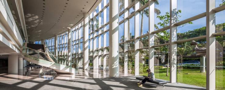 Vue du centre culturel de l'Université de Singapour (NUS)