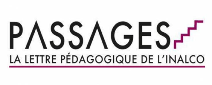LoLogo de « Passages », la lettre pédagogique de l'Inalco