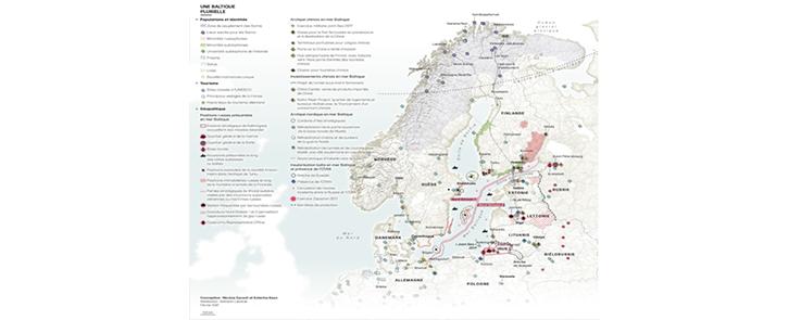 Carte géographique des pays baltes