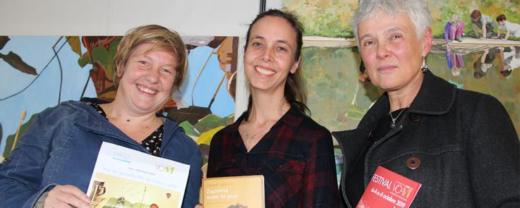 Maud Mabillard, lauréate du Prix de la traduction Inalco, entourée de Nathalie Carré et Marie Vrinat-Nikolov, membres du jury
