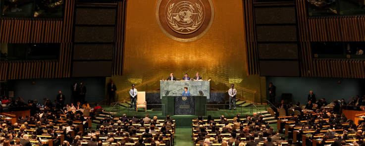 The President of Brazil, Dilma Rousseff, opens the General Debate of the 66th Session of the General Assembly of the United Nations. New York, September 21, 2011.