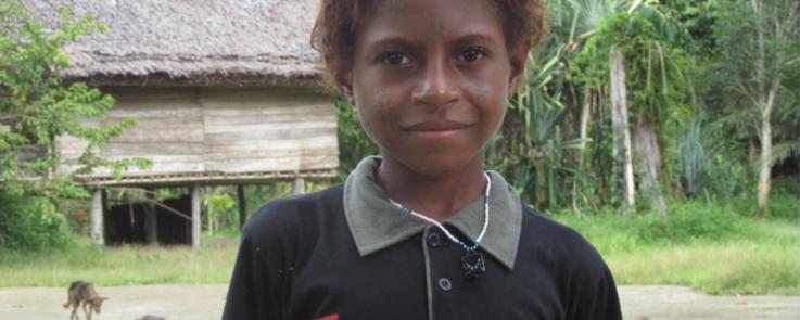 Portrait d'un enfant (Papouasie-Nouvelle-Guinée))