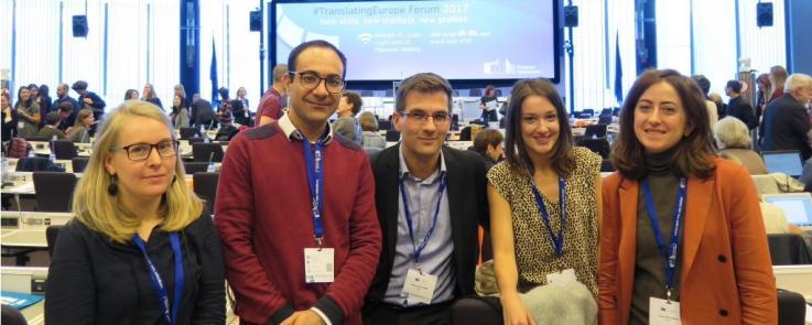 """La délégation du master TRM présente au Forum""""Traduire l'Europe"""""""
