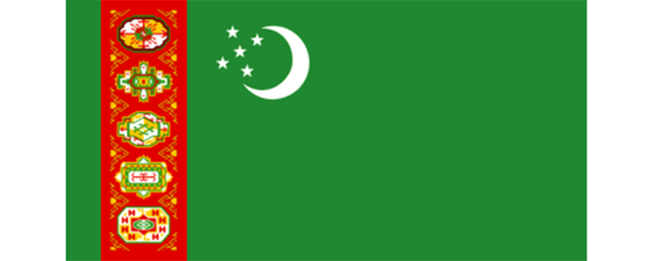 Turkménistan drapeau.