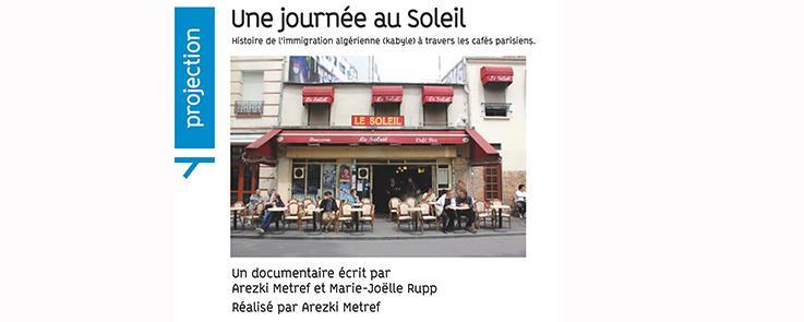 Une journée au soleil - documentaire Arezki Metref et Marie-Joëlle Rupp_Affiche Inalco