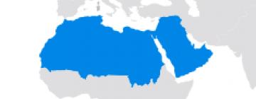 Région du monde - Proche Orient, Moyen Orient et Maghreb