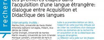 Les premières étapes dans l'acquisition d'une langue étrangère: dialogue entre Acquisition et Didactique des langues