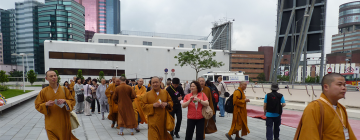 Moines au Troisième forum mondial du bouddhisme, Hong Kong, 2012