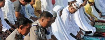 Musulmans en train de prier