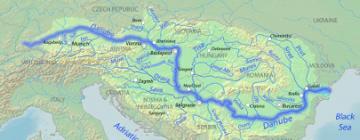 Carte du Danube