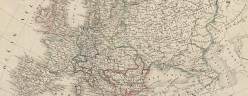Carte de l'Europe de 1840