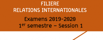 Examens Relations internationales 2019-2020 S1 - session 1