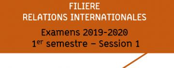 Examens Relations internationales 2019-2020 S1 - session 1