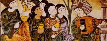 Histoire de Bayâd et Riyâd, Chant de luth dans un jardin pour une noble dame.