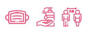 Mesures sanitaires - icônes