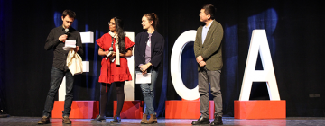 Le jury Inalco sur scène lors de la cérémonie de clôture du FICA 2019