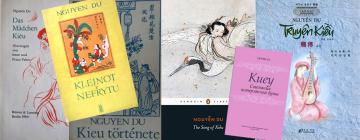 Montage: couvertures de plusieurs éditions étrangères du poème Kieu.