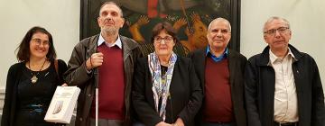 De gauche à droite : Daniela Merolla, Salem Chaker, Dominique Caubet, Abdellah Bounfour, Kamal Naït Zerad