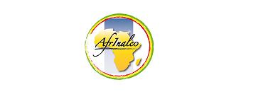 Logo AFRINALCO. Carte de l'Afrique en jaune
