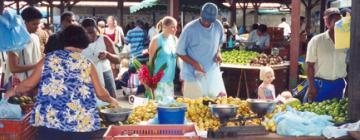 Marché à Cayenne, Guyane