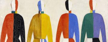 Les sportifs, 1928-1930, par Casimir Malevitch (1878-1935), peinture