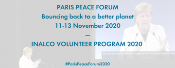 Paris Peace Forum - Inalco volunteer program 2020