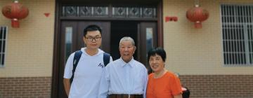 Peng accompagné de ses informateurs en Chine