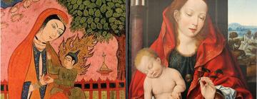 Photo de deux Vierges Marie (une persane et l'autre occidentale)