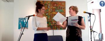 Prix de la traduction 2020 - Nathalie Carré remet le prix à Chloé Billon