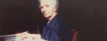 Portrait en peinture de Sirarpie Der Nersessian (1898-1989)