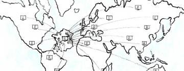 Ordinateurs connectés à partir de la France vers le monde entier