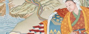 Peinture de Thönmi Sambhota par Sahil Bhopal et Tashi Mannox, 2015