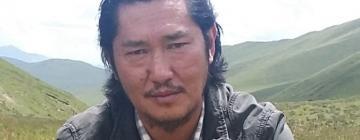 Portrait de Tserin Dondrup, écrivain tibétain