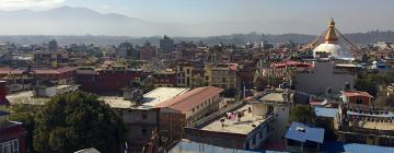 Vue panoramique de la vallée de Kathmandou vue depuis Bodnath