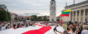 Manifestation à Vilnius (Lituanie) en soutien au Belarus, 2021