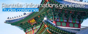 Visuel Etudes coréennes infos générales