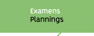 Examens planning
