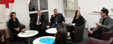 La délégation d'Inuit du Nunavut au club