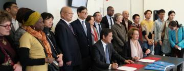 Visite du Président de l'université de Pékin