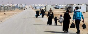 Camp de réfugiés syriens de Zaatari en Jordanie