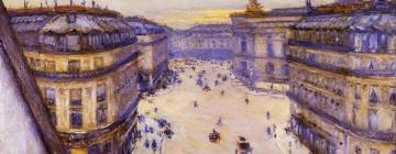 Gustave Caillebotte, Rue Halevy, vue d'un sixième étage