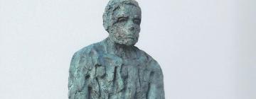 Sculpture en bronze de plein pied intitulée Xenos (l'étranger) par l'artiste Selim
